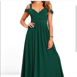 LuLu's Make Me Move Maxi Dress in Forest Green